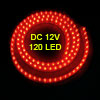 Car Auto Flexible PVC Red 120-LED Light Lamp 120cm