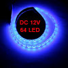 Car Blue SMD 64 LED Flexible Bar Light Lamp DC 12V 60cm