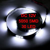 Car Auto DC 12V White 5050 SMD 30-LED Strip Light Lamp 60cm