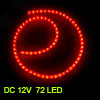 Car Auto Flexible PVC Red 72-LED Strip Light Lamp 72cm
