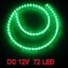 Car Auto Flexible PVC Green 72-LED Strip Light Lamp 72cm