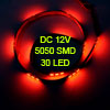 Car Auto DC 12V Red 5050 SMD 30-LED Strip Light Lamp 60cm