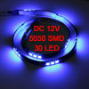 Car Auto DC 12V Blue 5050 SMD 30-LED Strip Light Lamp 60cm