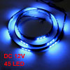 Car Auto DC 12V Blue 5050 SMD 45-LED Strip Light Lamp 90cm