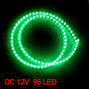Car Auto Flexible PVC Green 96-LED Strip Light Lamp 96cm