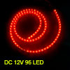 Car Auto Flexible PVC Red 96-LED Strip Light Lamp 96cm