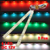 2 Pcs Colorful 6-LED Car Daytime Running Light Lamp Strip