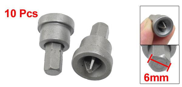 10 Pcs 6mm Phillips Head Drywall Screw Setter Dimpler Dill Bit