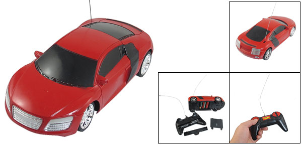 Children Batteries Powered Red Plastic Radio Control Telecar Toy Gift