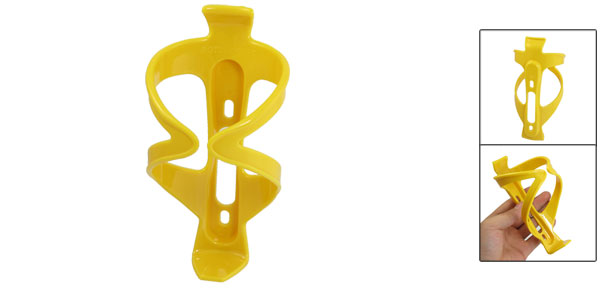 Yellow Plastic Drink Can Water Bottle Holder Bracket Rack for Bike Bicycle