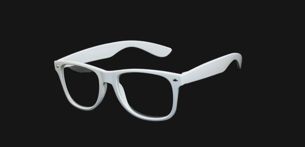 Women White Full Rim Frame Clear Lens Plain Glasses Eyeglasses