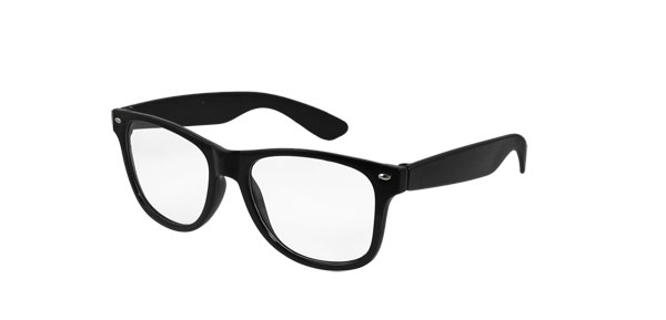 Ladies Black Plastic Full Frame Oval Lens Plain Glasses Eyewear