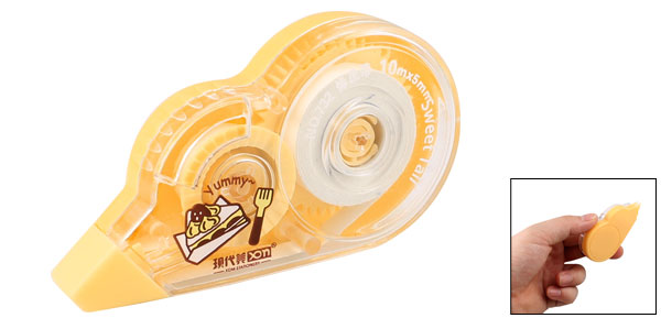 Yellow Case 10M x 5mm Correction Tape Dispenser Office Stationery
