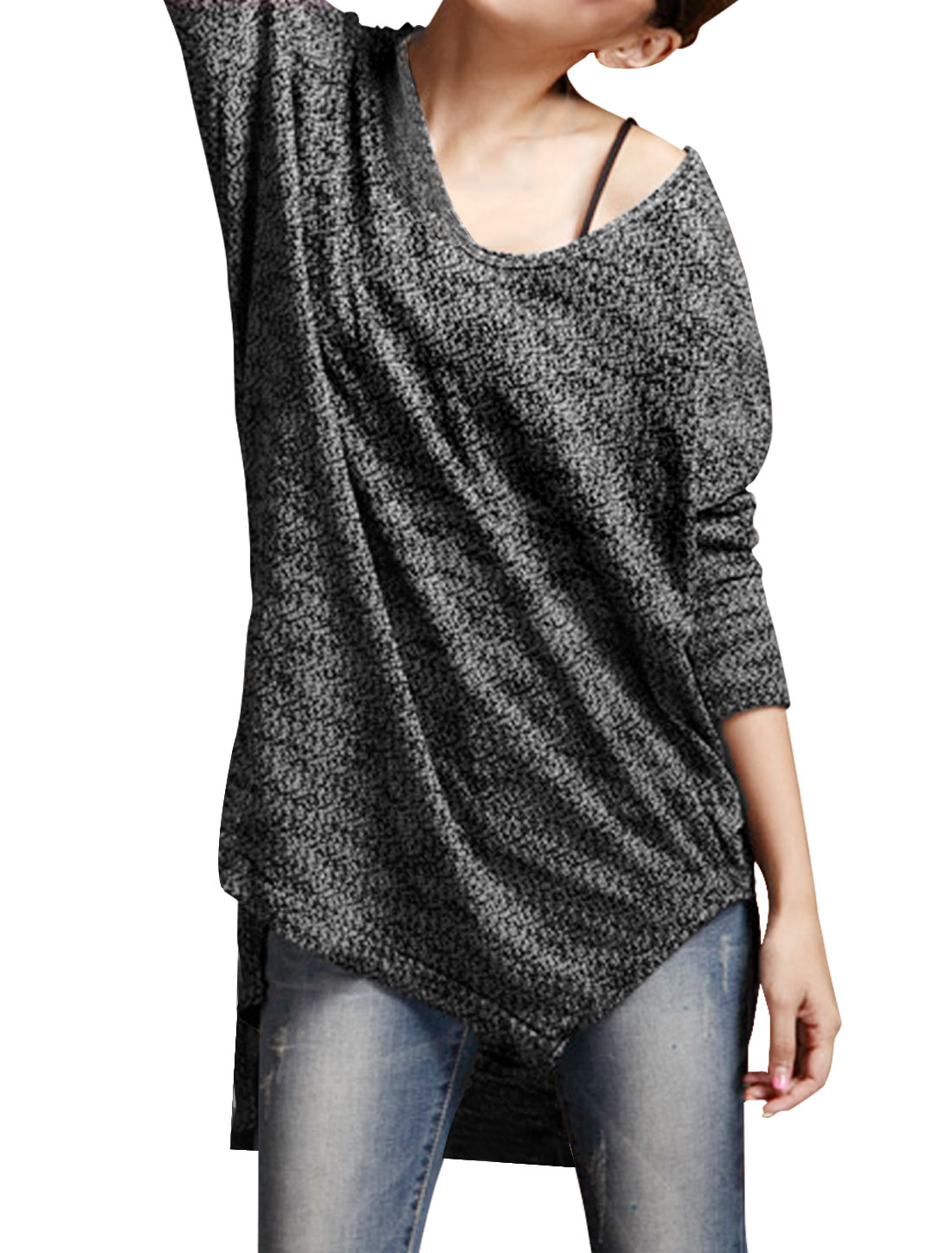 Ladies V Neck Long Sleeves Pullover Autumn Casual Tunic...