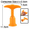 Yellow T Shape Plastic Grip Metal Corkscrew Red Wine Bottle Opene...