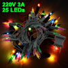 Xmas Tree Decoration 2 Flat Pin Plug Multicolor 25 LEDs Light Lam...