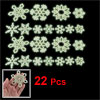 Wall Decor Light Green Snowflake Shaped Luminous Fluorescent Stic...