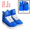 Mens Bright Blue Korea Stylish Light Padded Insole Ankle Boots Us...