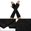 Unisex Classic Fashion Black Stretch Fingerless Arm Warmmer Overs...