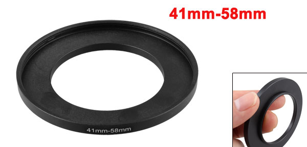 41mm-58mm 41mm to 58mm Male to Female Step up Ring Adapter Black for Camera