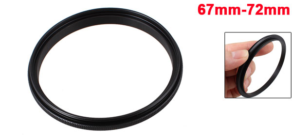 67mm-72mm 67mm to 72mm Male to Male Step up Ring Adapter Black for Camera