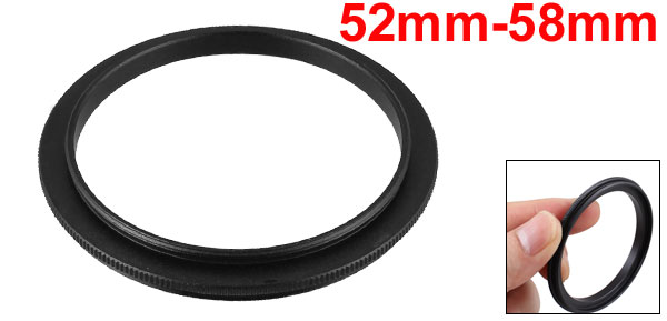 52mm-58mm 52mm to 58mm Male to Male Step up Ring Adapter Black for Camera