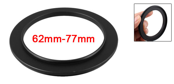 62mm-77mm 62mm to 77mm Male to Male Step up Ring Adapter Black for Camera