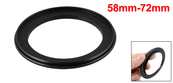 58mm-72mm 58mm to 72mm Male to Male Step up Ring Adapter Black for Camera