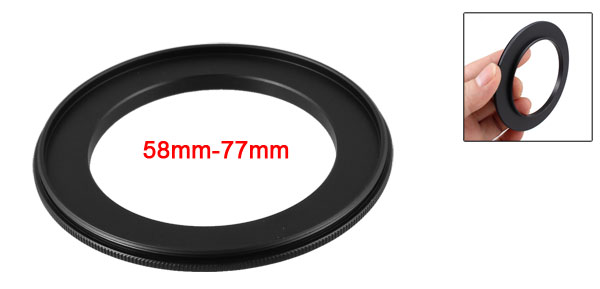 58mm-77mm 58mm to 77mm Male to Male Step up Ring Adapter Black for Camera