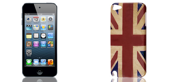 Retro Style Union Jack UK Flag Hard Back Case Cover for iPod Touch 5 5G 5th