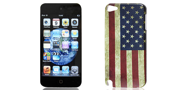 USA US United States Flag Vintage Style Hard Back Case Cover for iPod Touch 5 5G