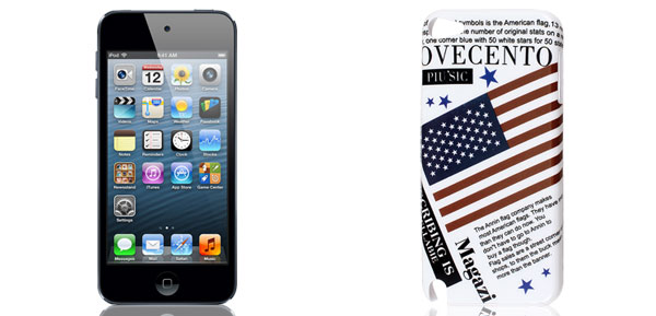 US United States Flag Letters White Hard Back Case Cover for iPod Touch 5 5G