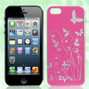 Floral Butterfly Design Fuchsia Hard Back Case Cover for iPhone 5...