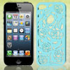 Hollow Out Rose Pattern Light Blue Back Case Cover for iPhone 5 5...