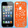 Hollow Out Rose Design Orange Red Back Case Cover for iPhone 5 5G...
