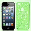 Hollow Out Rose Design Lime Green Back Case Cover for iPhone 5 5G...