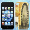 Vintage Style Eiffel Tower Ferris Wheel Hard Back Case Cover for iPod 5G
