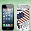 US United States Flag Letters White Hard Back Case Cover for iPod...