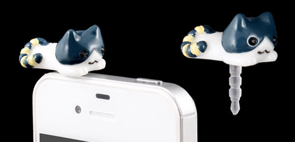 Lying Cat 3.5mm Earphone Anti Dust Plug Cap Stopper Cover for Smartphone Cell Phone