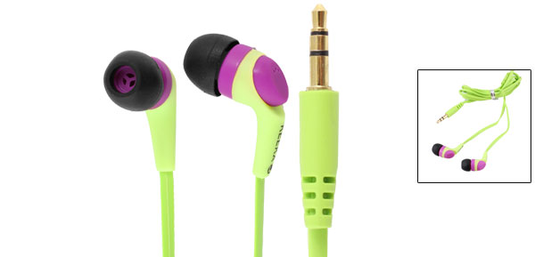 Authorized KEEKA 3.5mm Green In Ear Headphone Headset 1M for Phone