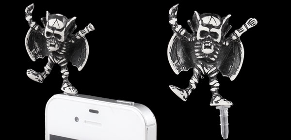 Skeleton King Decor Anti Dust 3.5mm Earphone Cap Plug for iPad iPod iPhone 4S 5G