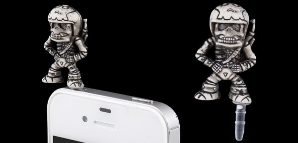 Retro Style Soldier 3.5mm Earphone Cap Dust Plug Stopper for iPhone iPad iPod