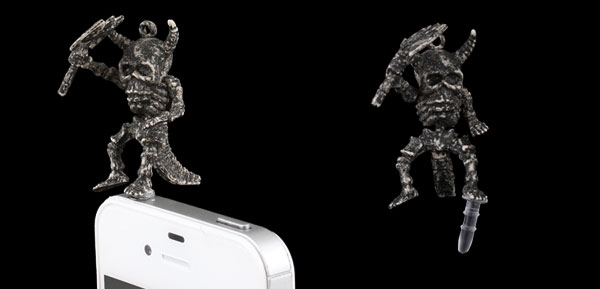 Vintage Style Skeleton 3.5mm Jack Ear Cap Dust Plug Stopper for iPhone iPad iPod