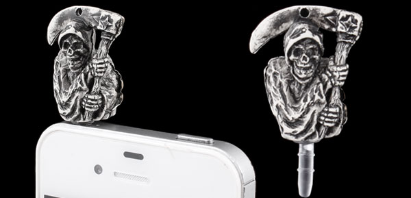 Human Skeleton Design 3.5mm Earphone Cap Dust Plug Stopper for Phone