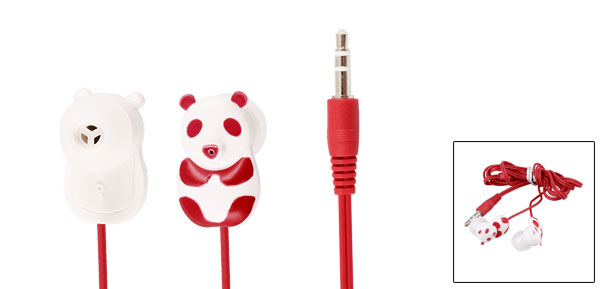 Red Panda 3.5mm Plug In Ear Stereo Headphone Earphone 1.1M for iPod iPhone iPad