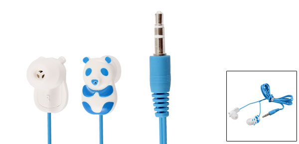 Blue Panda 3.5mm Plug In Ear Stereo Headphone Earphone 1.1M for iPod iPhone iPad