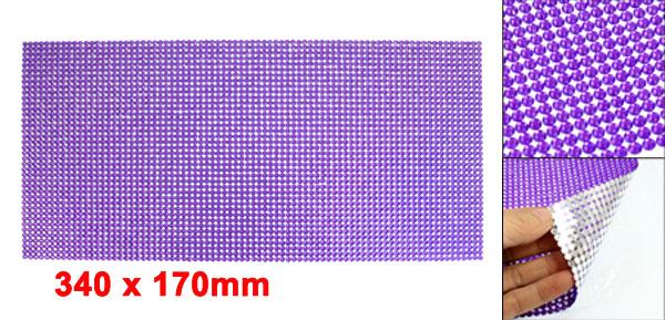 Car Interior Adhesive Purple Plastic Crystal Bling Sticker Decoration