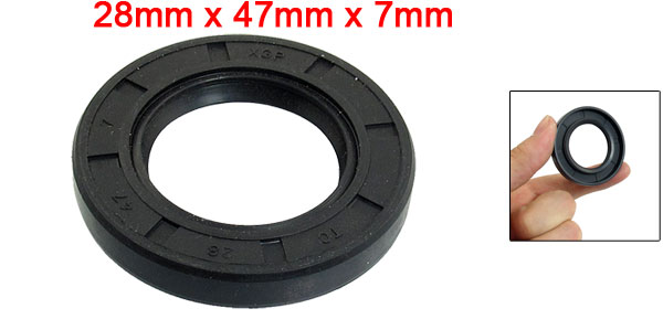 Automobile Pneumatic Seal Rubber Air Sealing Ring Black 28mm x 47mm x 7mm