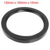 Black Nitrile Rubber Dual Lips Oil Shaft Seal TC 130mm x 160mm x ...