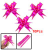 10 Pcs Gift Wrap Bowtie Designed DIY Pull Bow Ribbons Fuchsia for...